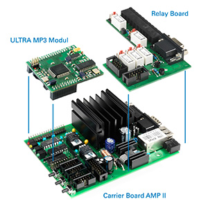 ULTRA MP3 module, Carrier Board AMPII and Relay Board